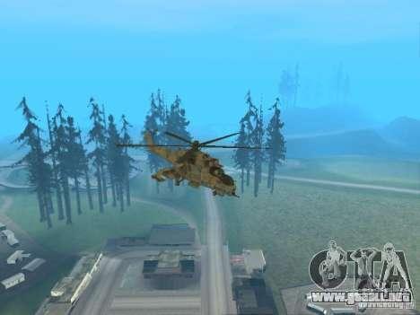 Mi-24P para GTA San Andreas interior