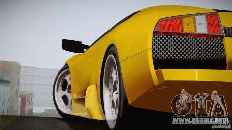 Lamborghini Murcielago 2002 v 1.0 para GTA San Andreas vista posterior izquierda