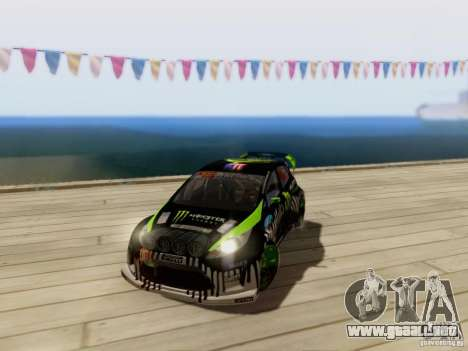 Ford Fiesta Gymkhana 3 para GTA San Andreas vista hacia atrás