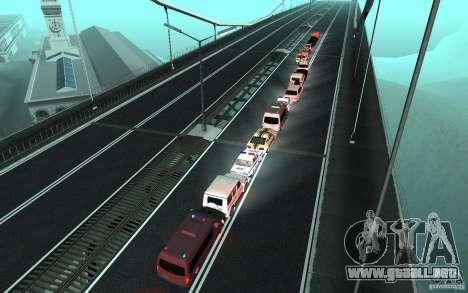 La caravana presidencial v. 1.2 para GTA San Andreas sucesivamente de pantalla