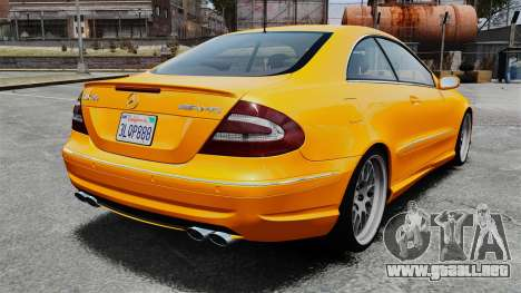 Mercedes-Benz CLK 55 AMG para GTA 4 Vista posterior izquierda