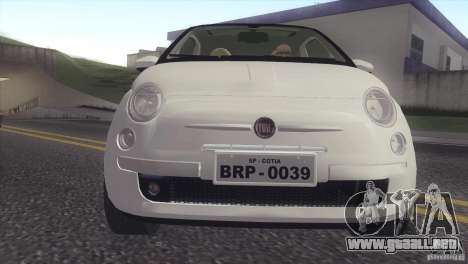 Fiat 500 Lounge 2010 para GTA San Andreas left