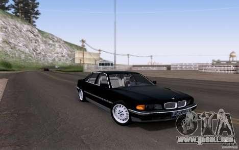 BMW 730i E38 para visión interna GTA San Andreas