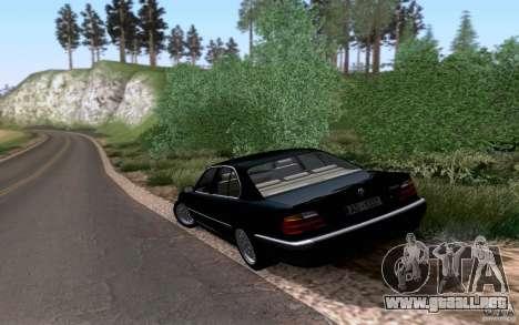 BMW 730i E38 para GTA San Andreas vista hacia atrás