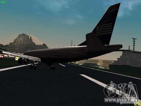 Embraer ERJ 190 USAirways para GTA San Andreas vista posterior izquierda