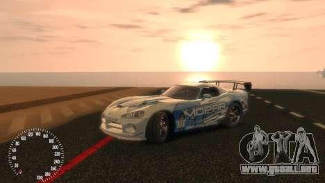 Dodge Viper SRT-10 Mopar Drift para GTA 4 visión correcta