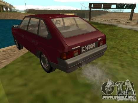 AZLK Moskvich 2141 para GTA San Andreas vista posterior izquierda