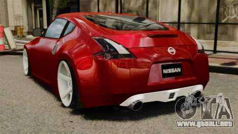 Nissan 370Z 2010 para GTA 4 Vista posterior izquierda
