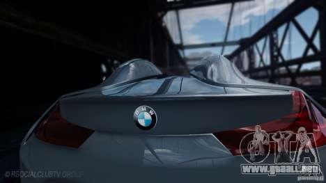 BMW Vision ConnectedDrive Concept 2011 para GTA 4 Vista posterior izquierda