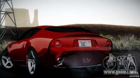 Aston Martin DB7 Zagato 2003 para visión interna GTA San Andreas