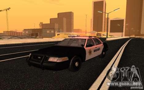 Ford Crown Victoria Police para la visión correcta GTA San Andreas