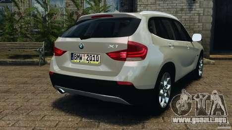 BMW X1 para GTA 4 Vista posterior izquierda