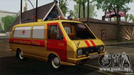 Ambulancia RAF 22031 Latvija para GTA San Andreas vista hacia atrás