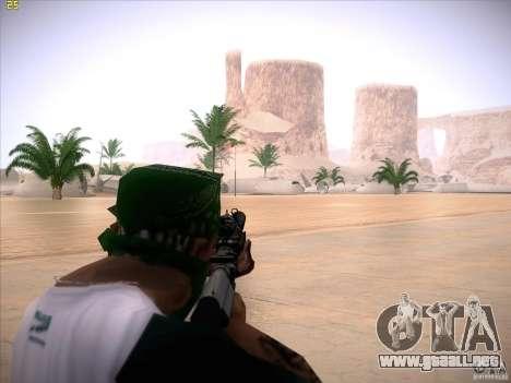 M4 Close Quarters Combat para GTA San Andreas tercera pantalla