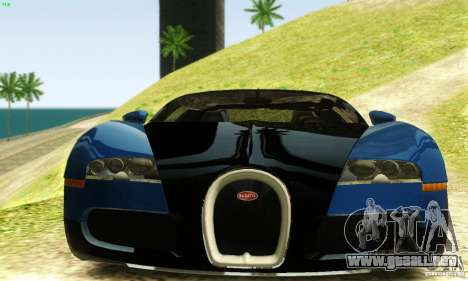 Bugatti Veyron para GTA San Andreas vista hacia atrás