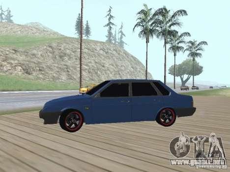 VAZ 21099 v2 para GTA San Andreas vista hacia atrás