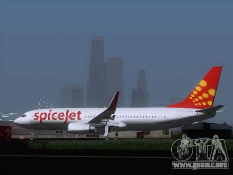 Boeing 737-8F2 Spicejet para la visión correcta GTA San Andreas