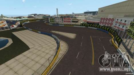 Long Beach Circuit [Beta] para GTA 4 adelante de pantalla