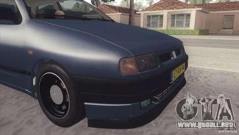 Seat Ibiza GLXI 1.4 1994 para GTA San Andreas vista posterior izquierda