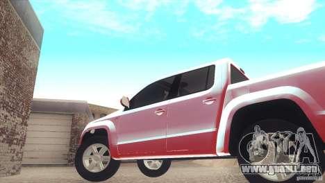Volkswagen Amarok TDI Trendline 2013 para la visión correcta GTA San Andreas