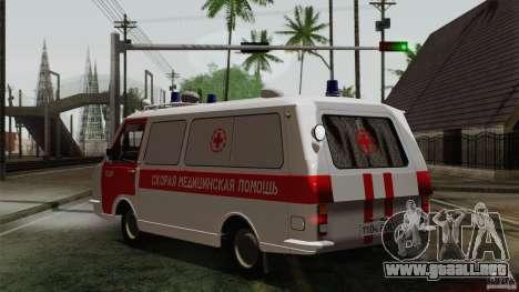 Ambulancia RAF 22031 Latvija para GTA San Andreas left