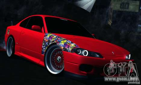 Nissan Silvia S15 para visión interna GTA San Andreas