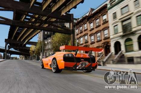 Lamborghini Murcielago RSV FIA GT1 para GTA 4 visión correcta