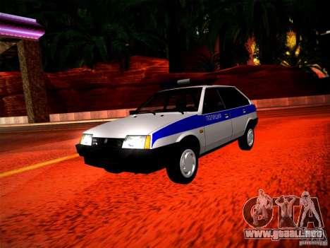 Policía Vaz 2109 para GTA San Andreas left