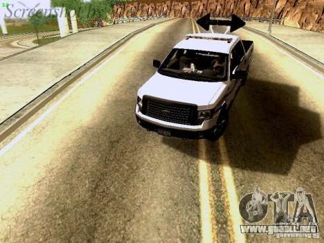 Ford F-150 Road Sheriff para GTA San Andreas vista hacia atrás