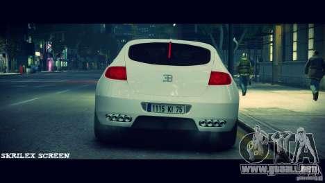 Bugatti Galibier 16C (Bug fix) para GTA 4 vista hacia atrás