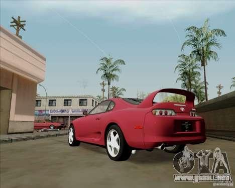 Toyota Supra RZ 98 Twin Turbo para GTA San Andreas vista posterior izquierda