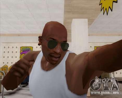 Gafas de sol verdes aviadores para GTA San Andreas tercera pantalla