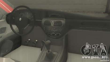 Renault Megane 2000 para GTA San Andreas vista posterior izquierda