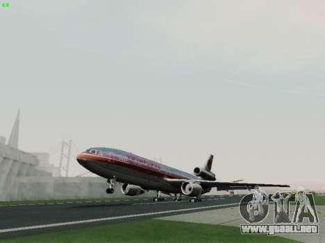 McDonell Douglas DC-10-30 Hawaiian para visión interna GTA San Andreas