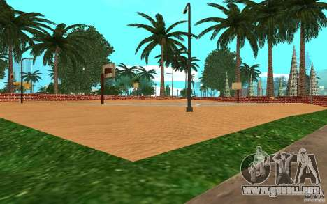 Nueva cancha de baloncesto de texturas para GTA San Andreas tercera pantalla