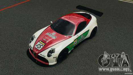 Alfa Romeo 8C Competizione Body Kit 1 para GTA 4 vista superior