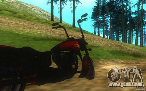 Motorcycle from Mercenaries 2 para GTA San Andreas vista hacia atrás