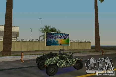 Hummer HMMWV M-998 1984 para GTA Vice City visión correcta