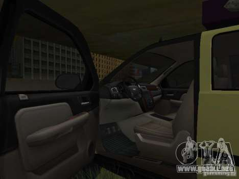 Chevrolet Tahoe Off Road para visión interna GTA San Andreas