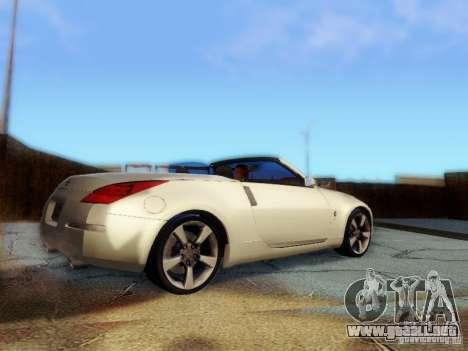 Nissan 350Z Cabrio para GTA San Andreas left