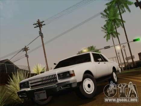 Chevrolet Caprice 1986 para GTA San Andreas interior