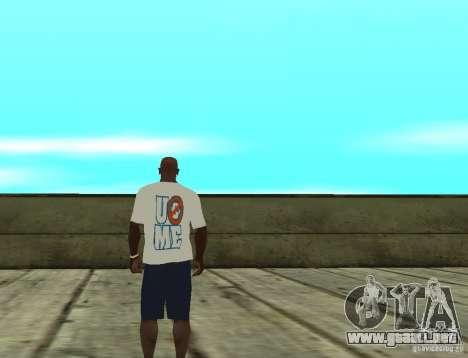 Camiseta WWE John Cena para GTA San Andreas segunda pantalla