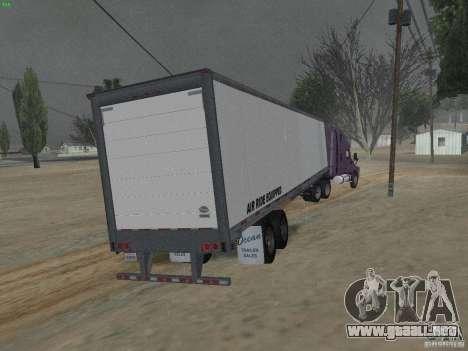 El semirremolque en el Cascadia de Freightliner para GTA San Andreas