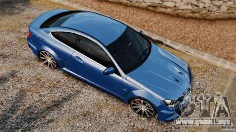 Mercedes-Benz C 63 AMG para GTA 4 visión correcta