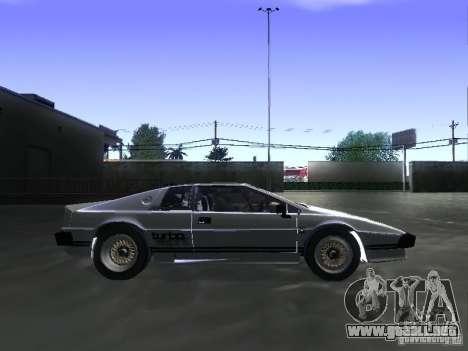 Lotus Esprit Turbo para GTA San Andreas vista posterior izquierda