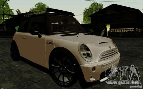 Mini Cooper S Tuned para GTA San Andreas vista posterior izquierda