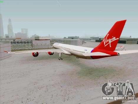 Airbus A-340-600 Virgin para la visión correcta GTA San Andreas