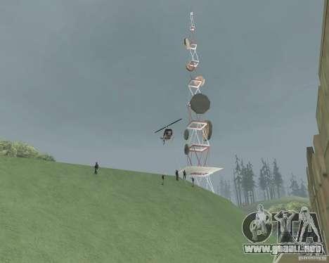 Zona de restricción de Vinewood para GTA San Andreas sucesivamente de pantalla
