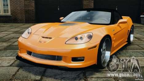 Chevrolet Corvette ZR1 para GTA 4 visión correcta