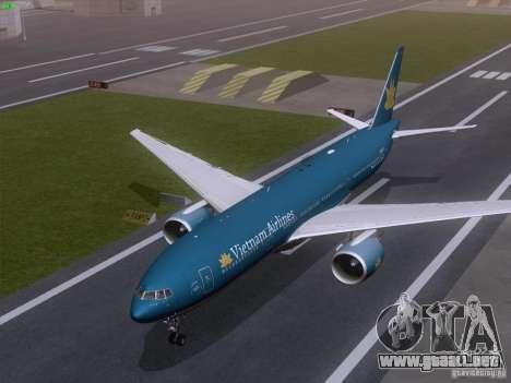 Boeing 777-2Q8ER Vietnam Airlines para visión interna GTA San Andreas